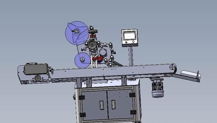 machine d'étiquetage auto-adhésive côté plat supérieur