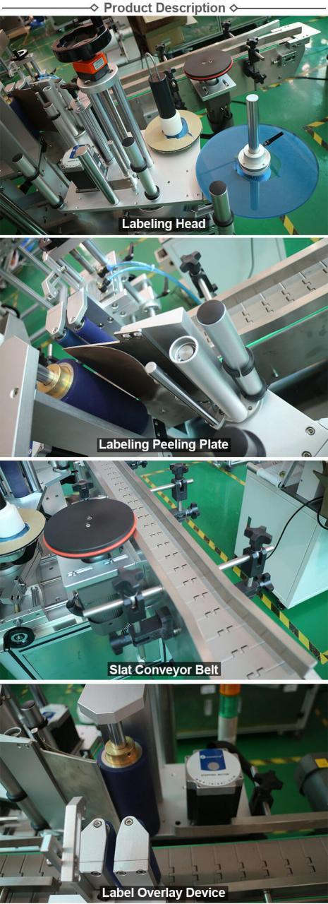 Machine d'étiquetage rotative automatique HL-T-406 Jar / Can / Round Bottle