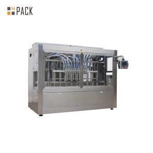 Machine de remplissage liquide droite automatique à six têtes