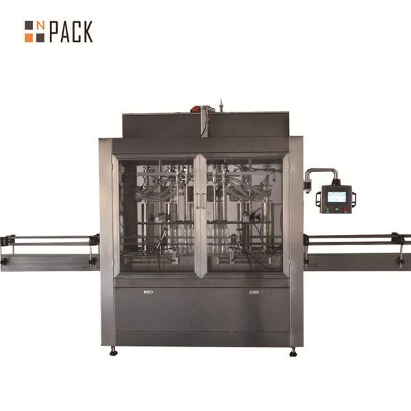 Machine de remplissage de liquide pneumatique à piston volumétrique à deux têtes