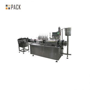 Machine à étiquettes de capsulage remplissante liquide adaptée aux besoins du client du compte-gouttes en verre e pour le liquide de cigarette d'e