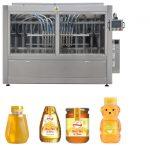 Type automatique de piston servo Sauce au miel Confiture à haute viscosité Remplissage liquide Remplissage Machine à étiquettes Ligne